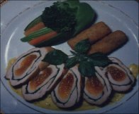 WITH APRICOT	CHICKEN ROLL