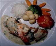 IN SAILOR STYLE STUFFED CHICKEN
