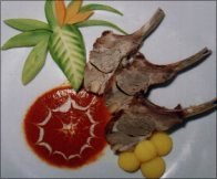 IN HONEY SOUSE LAMB FLOUVERED